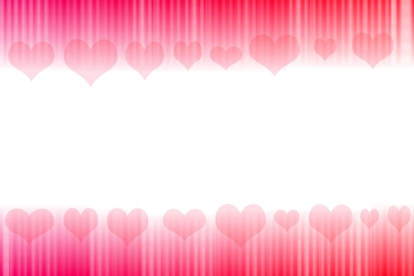 Pink Hearts & Stripe Background