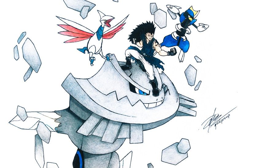 ... Fairy Tail x Pokemon (Gajeel Redfox) by goldprovip