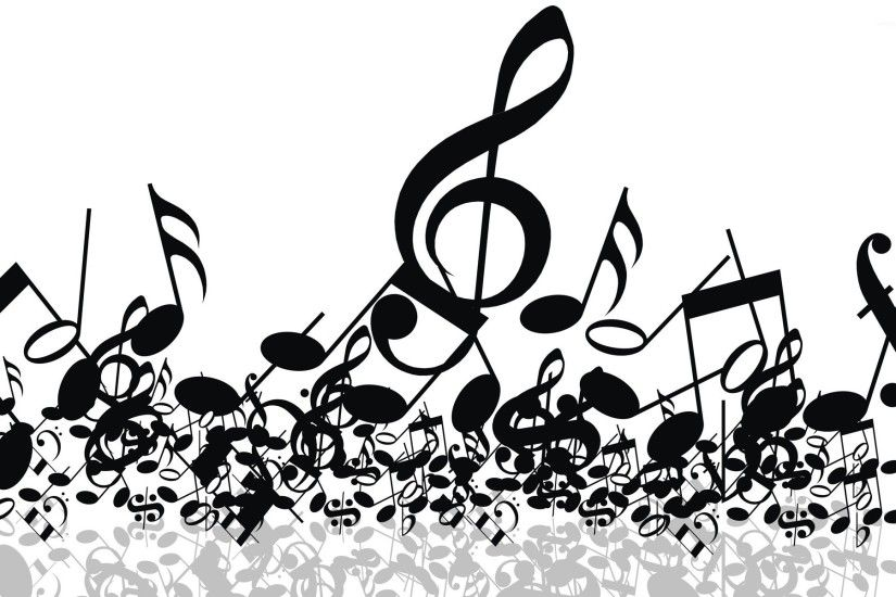 White Music Note Wallpaper Background Is 4K Wallpaper