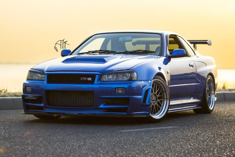 Nissan GTR R34 Wallpaper, blue car | HD Wallpapers Pictures