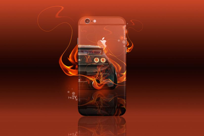 ... Apple iPhone 6 Plus Back Logo Nissan Skyline GTR R33 JDM Back Fire Car  2016