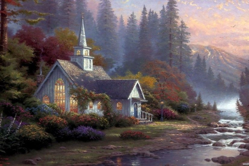 ... Best Thomas Kinkade Wallpaper Amazing free HD 3D wallpapers  collection-You can download best 3D