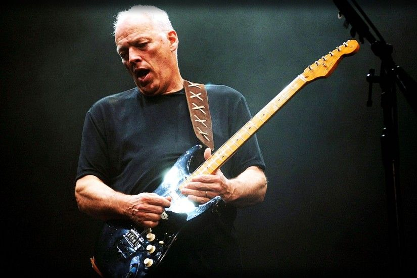 Preview wallpaper david gilmour, guitar, play, old, grey-haired 1920x1080