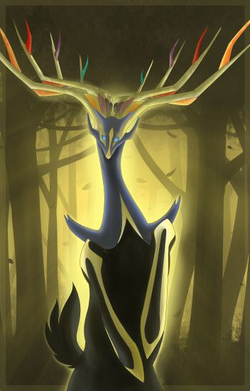 Forest of Xerneas by GlitchedBat.deviantart.com on @DeviantArt