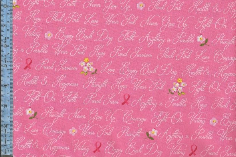 Anything is Possible - white cursive text with ribbons and flowers on bright  pink background