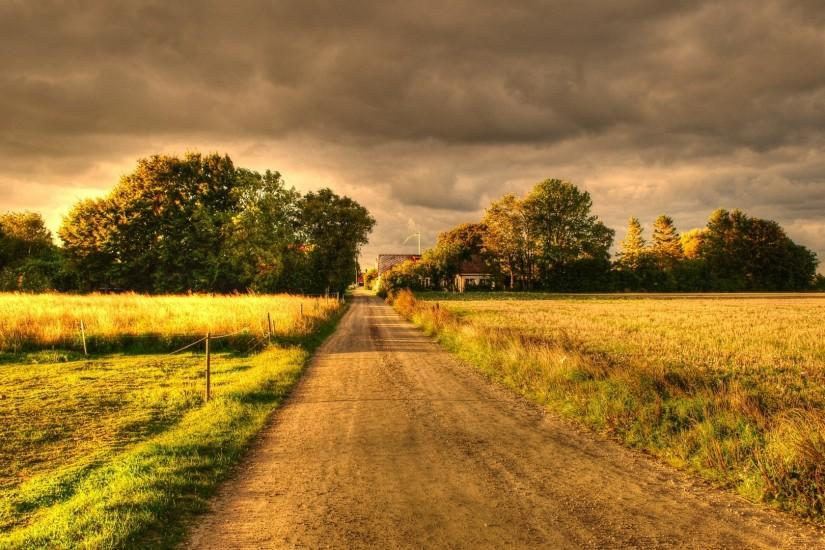 Country Dirt Road Background