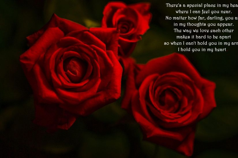 Rare Love Poems | Love poem and red roses Widescreen Wallpaper - #530