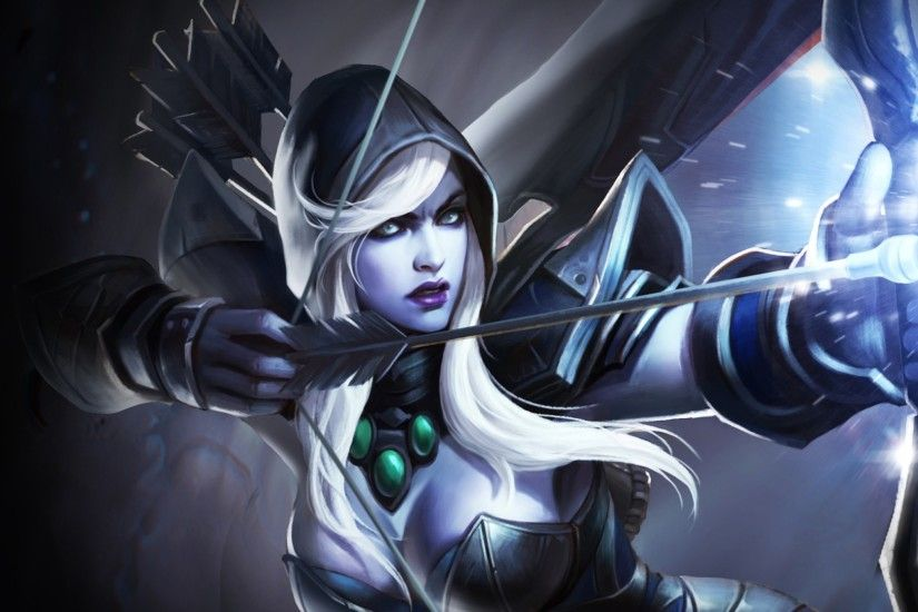 Traxex the Drow Ranger HD Wallpaper ...