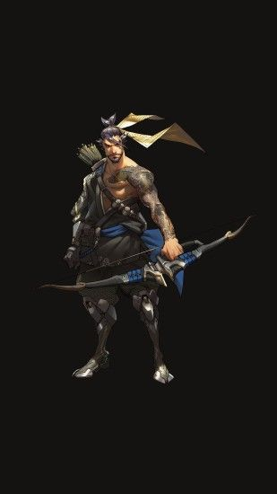 papers.co as32 overwatch hanzo dark game art illustration iPhone 7 plus  wallpaper
