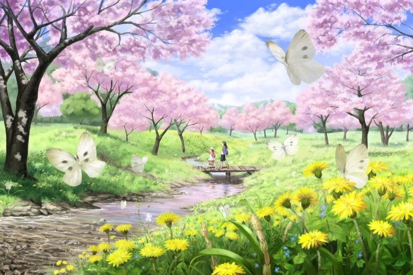 Spring Scenery Of Nature Wallpaper Spring Scenes Afkopowt