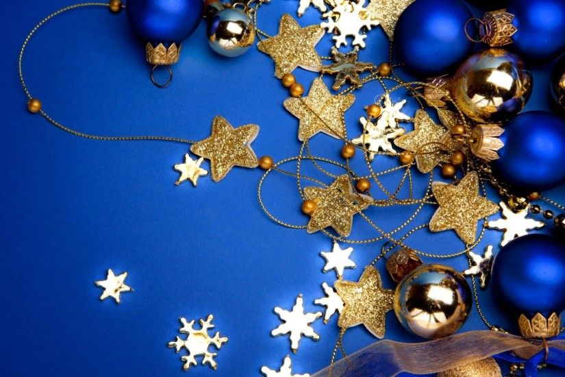 snowflakes new year background christmas blue decoration balls