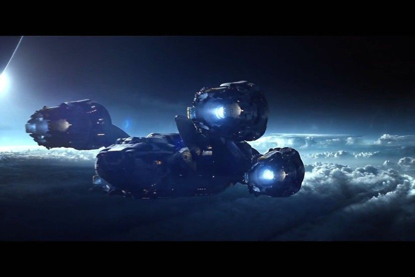 1920x1080 ufo spaceship spacecraft roads landscapes sky clouds alien  wallpaper .