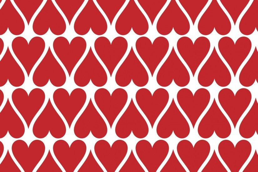 Red Hearts Wallpaper Background