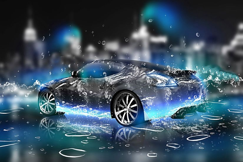 3d car hd pictures widescreen hd hq latest water effect graphics desktop  wallpapers amazing cool colourful background photos best display picture  2560×1600 ...