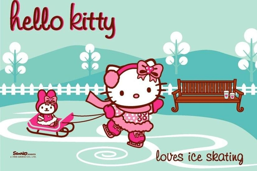lights sanrio wallpaper background pixels widescreen hello christmas kitty  group character