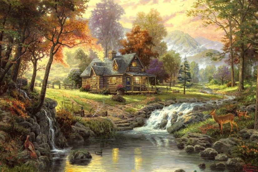 Thomas Kinkade Disney Wallpapers Cartoon, Thomas Kinkade Disney .