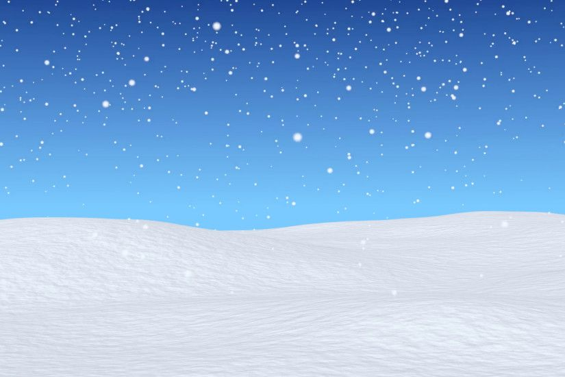 White snowy field, bright winter blue sky and beginning of snowfall, winter  snow animated background, wintertime 3d animation, seamless loop Motion ...