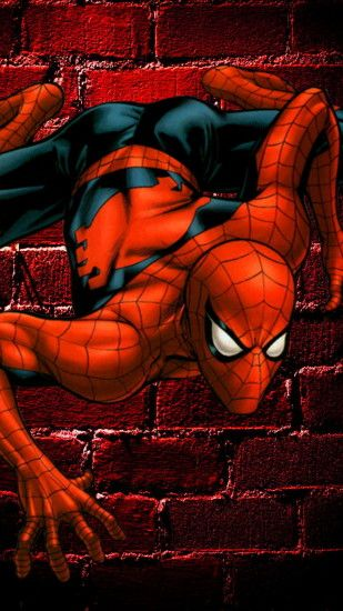 Spiderman On The Wall - Tap to see awesome spider man wallpapers! - @mobile9