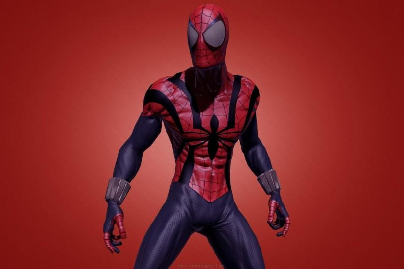 Spiderman Comics Spider-man Superhero over red background