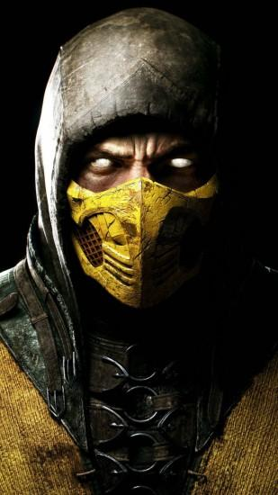 Preview wallpaper mortal kombat x, scorpio, ninja, mask 1080x1920