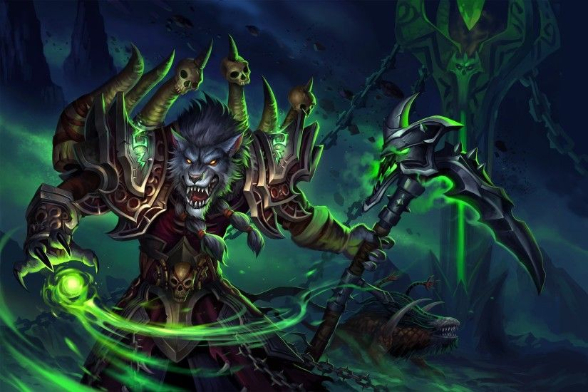 World of Warcraft Worgen Warlock Game