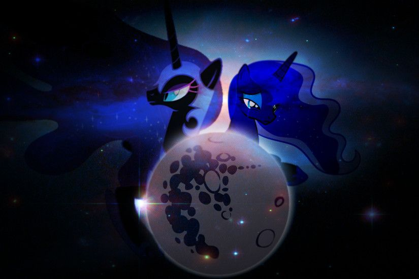 MLP:FiM Princess Luna and Nightmare Moon Wallpaper by Proenix, Stabzor,  TigresToku and