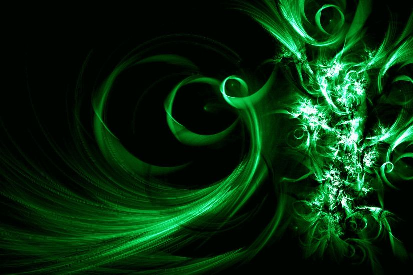 Image Description: This is Black and Green Vector Abstract Desktop  Wallpaper in Buubi.com