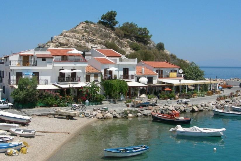 Samos Island Greece Wallpaper