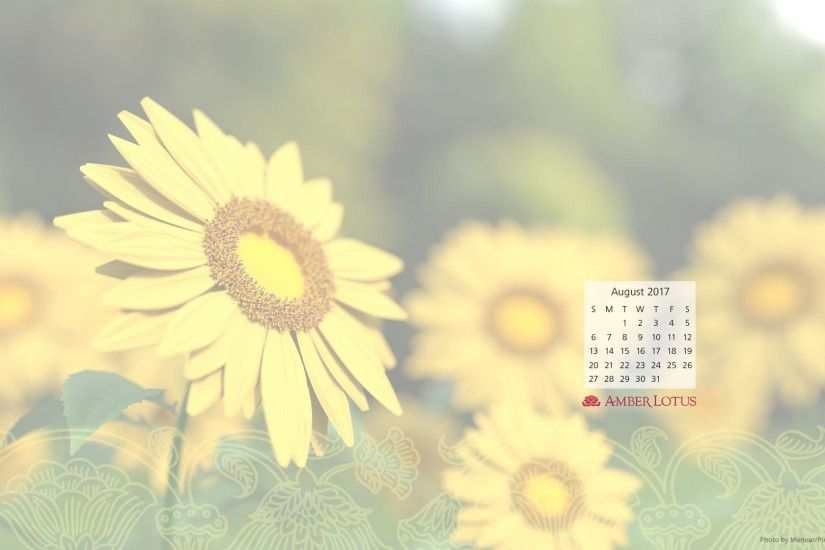 Free desktop calendar from Amber Lotus