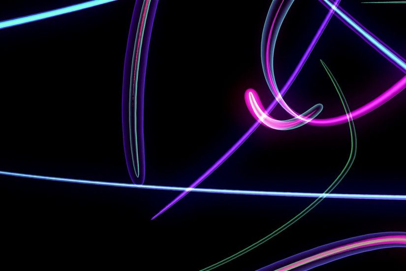 Multi Colored Neon Streamers Over Black Background Motion Background -  VideoBlocks