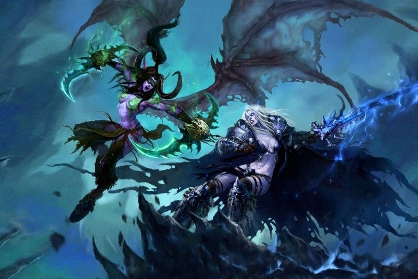 Illidan Vs Sylvanas - World Of Warcraft
