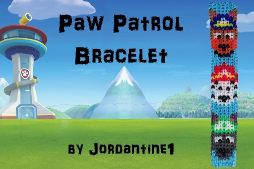 New Paw Patrol Dog Bracelet- Alpha Loom/Rainbow Loom -Police German  Shepherd / Firefighter Dalmation - YouTube