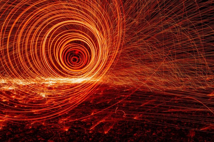 Fire spiral background