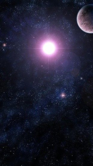 Preview wallpaper galaxy, stars, universe, light, planet 2160x3840