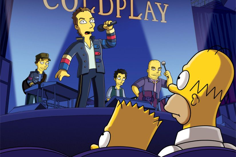 Coldplay in the simpsons