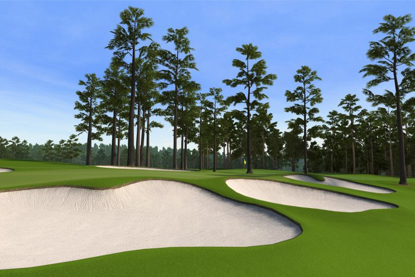 "7 at Augusta National as seen in the PS3 and XBox 360 versions of ""Tiger  Woods 12: The Masters."""