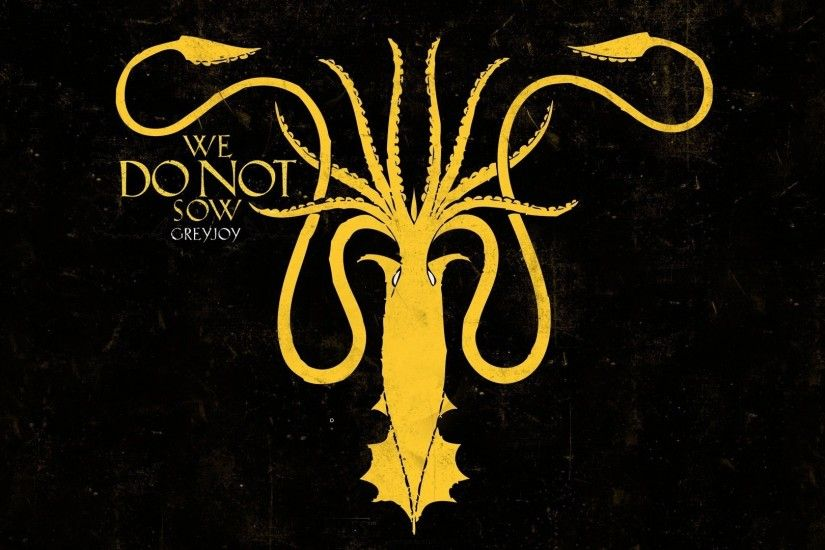 Game of thrones house greyjoy squid