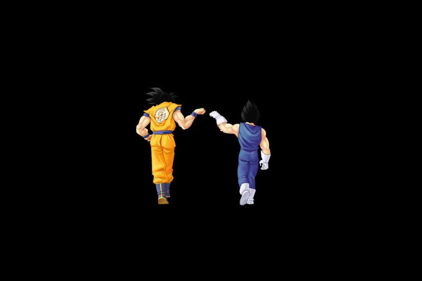 Dragon Ball Z Goku and Vegeta Black Background Wallpaper