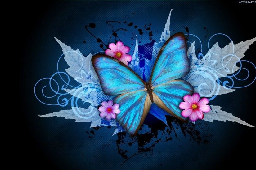 Wallpapers For > Abstract Butterfly Wallpaper