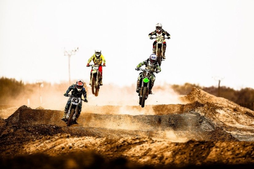 motocross jump dust desert extreme sports
