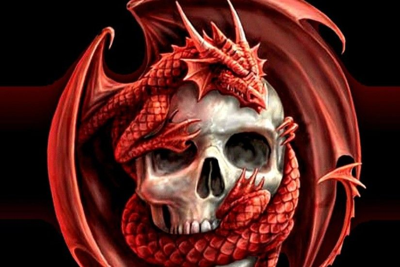 Skulls Dragons Wallpaper At Dark Wallpapers
