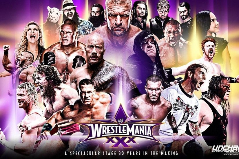"2014 Kick-Off Wallpaper! WWE WrestleMania ""30 Years In The Making ."
