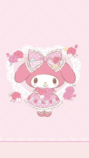 bonbonribbon hello kitty my melody sakura lovely anime pink cinnamoroll  wallpaper heymi243.tumblr.com