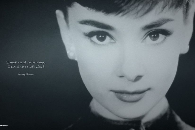 audrey hepburn quote hd wallpaper