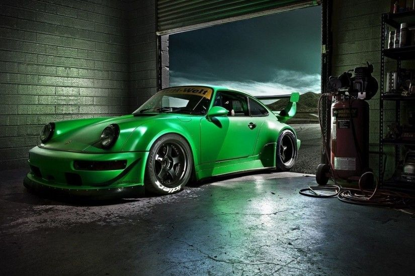 Green Porsche Carrera 4k HD Wallpaper