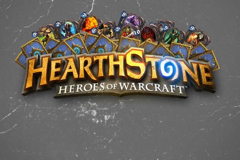 Preview wallpaper hearthstone, heroes of warcraft, maps, texture, logo  1920x1080