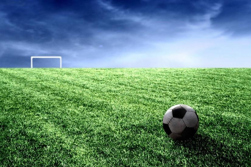 Cool Soccer Ball And Field Widescreen 2 HD Wallpaperscom