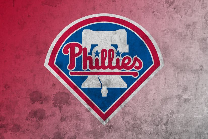 ... Phillies club logo on red and white ...