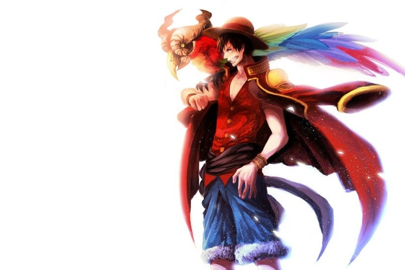 wallpaper simple background · white background · Monkey D Luffy