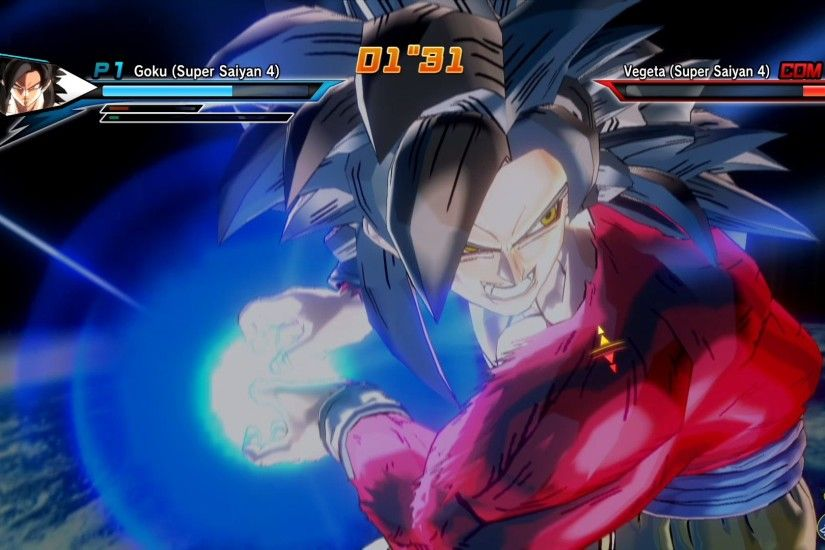Dragon Ball Xenoverse (PS4) : SSJ4 Goku Vs SSJ4 Vegeta【60FPS 1080P】 -  YouTube